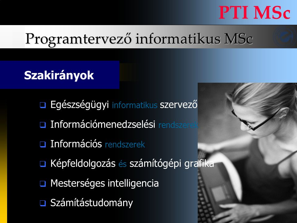 Programtervező informatikus MSc