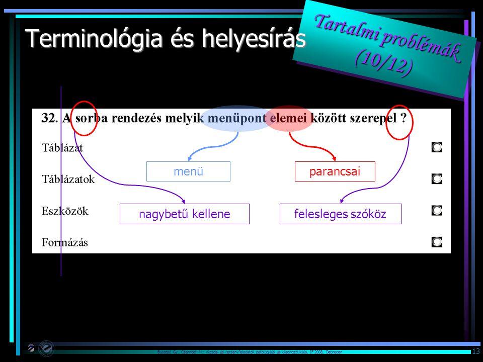 Terminológia és helyesírás