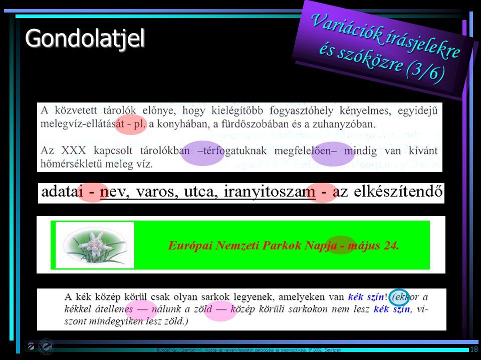 Variációk írásjelekre és szóközre (3/6)