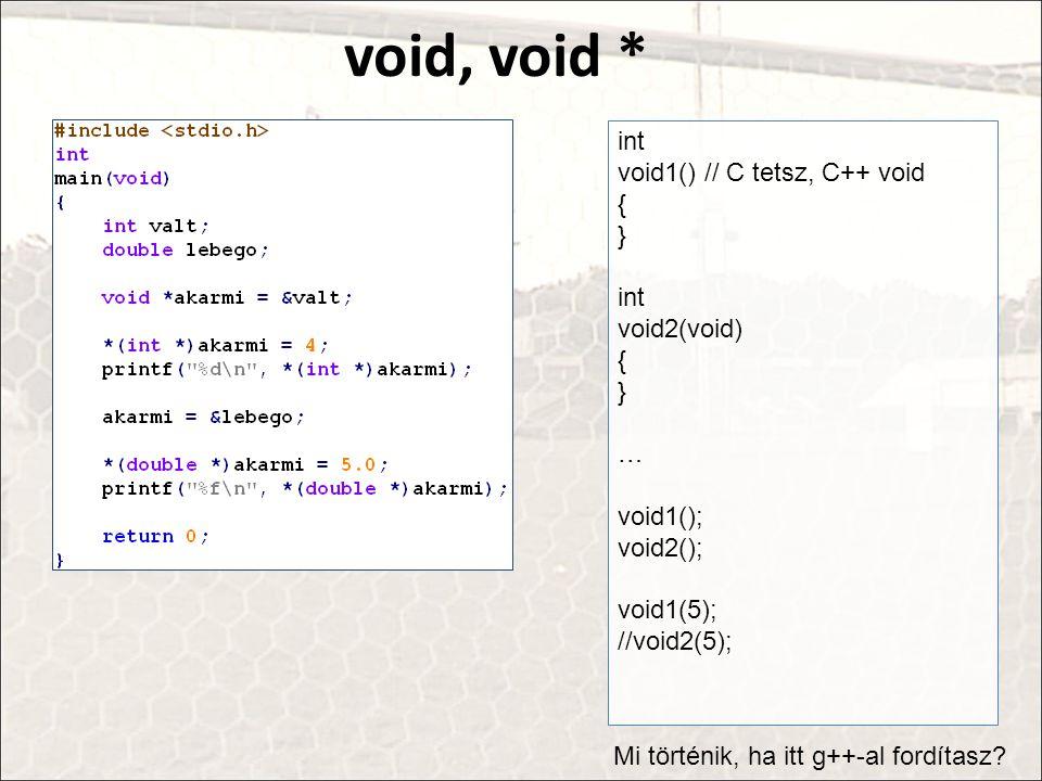 void, void * int void1() // C tetsz, C++ void { } void2(void) …
