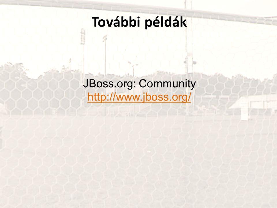 További példák JBoss.org: Community http://www.jboss.org/