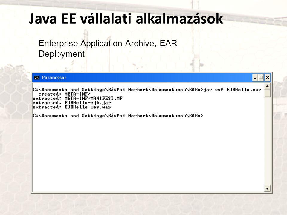 Java EE vállalati alkalmazások