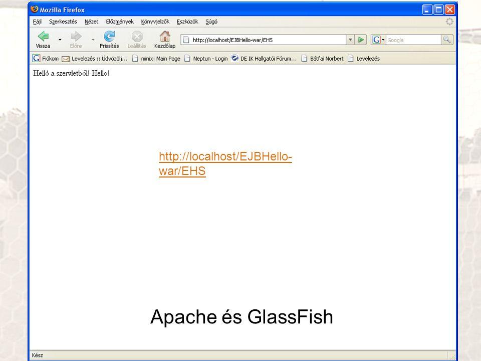 http://localhost/EJBHello-war/EHS Apache és GlassFish