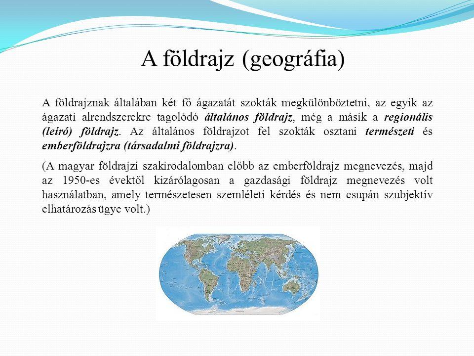 A földrajz (geográfia)