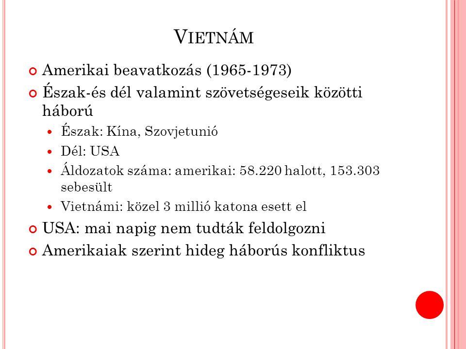 Vietnám Amerikai beavatkozás (1965-1973)