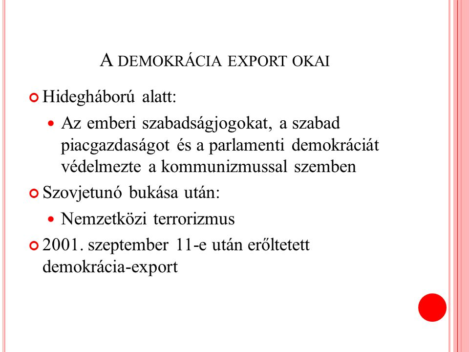A demokrácia export okai