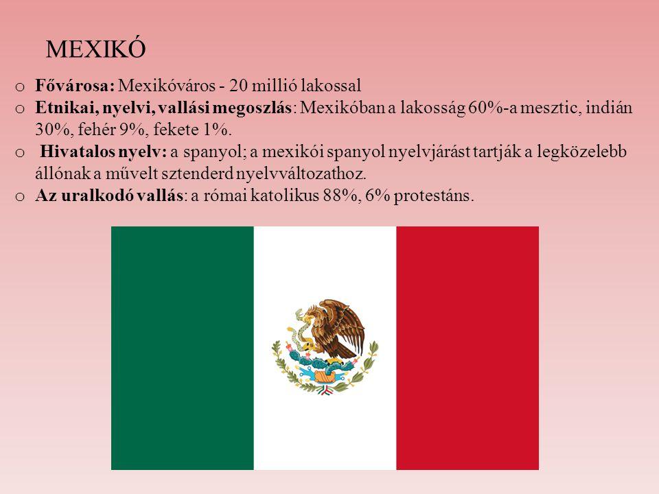 MEXIKÓ Fővárosa: Mexikóváros - 20 millió lakossal