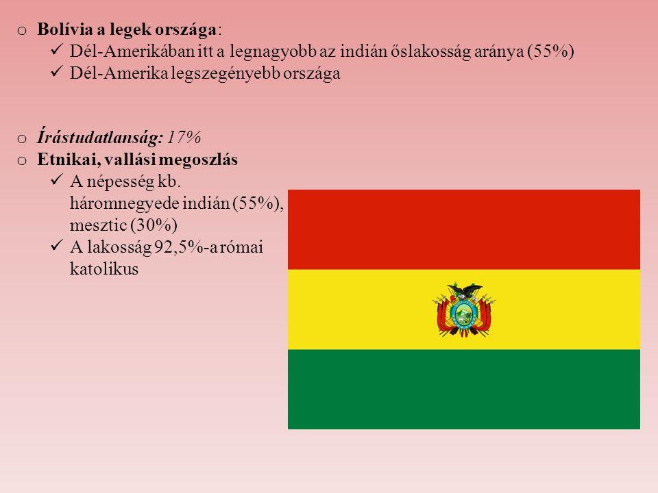 Bolívia a legek országa: