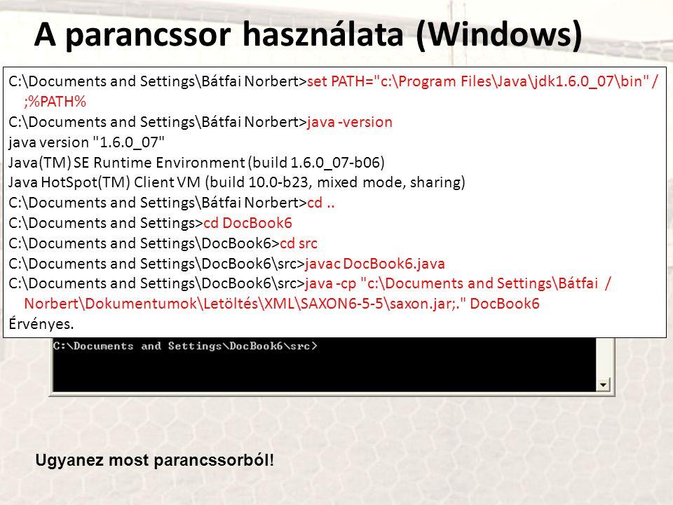 A parancssor használata (Windows)