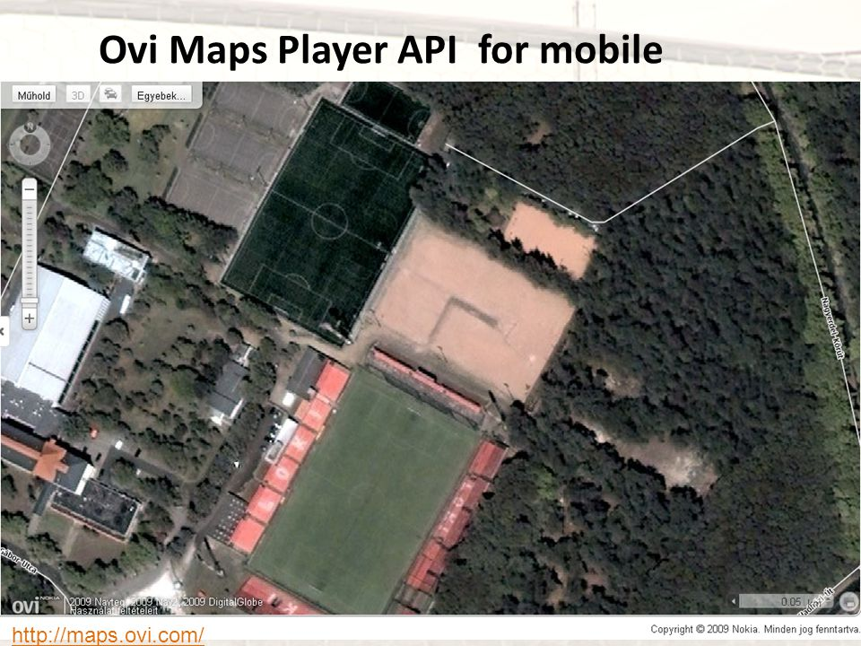 Ovi Maps Player API for mobile