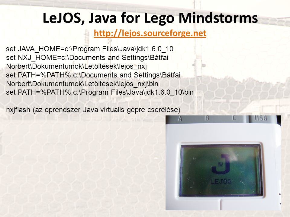 LeJOS, Java for Lego Mindstorms