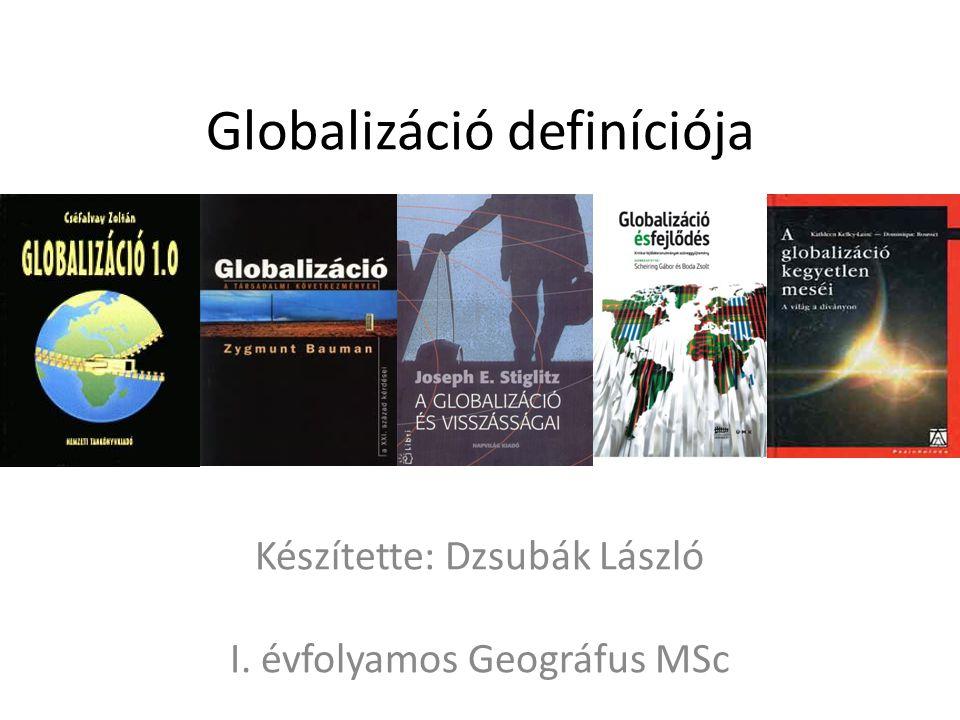 Globalizáció definíciója