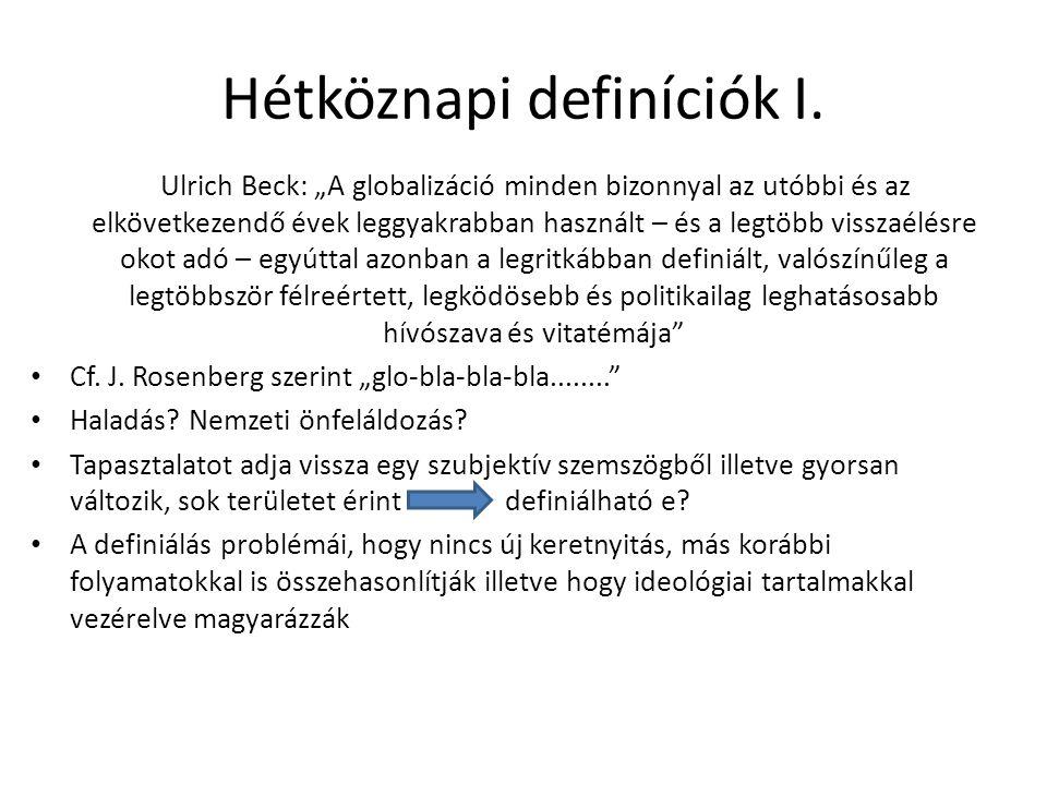 Hétköznapi definíciók I.