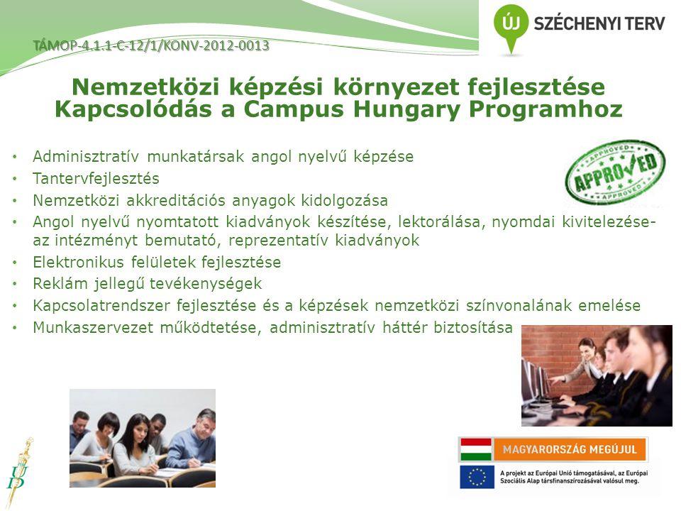 Nemzetközi képzési környezet fejlesztése