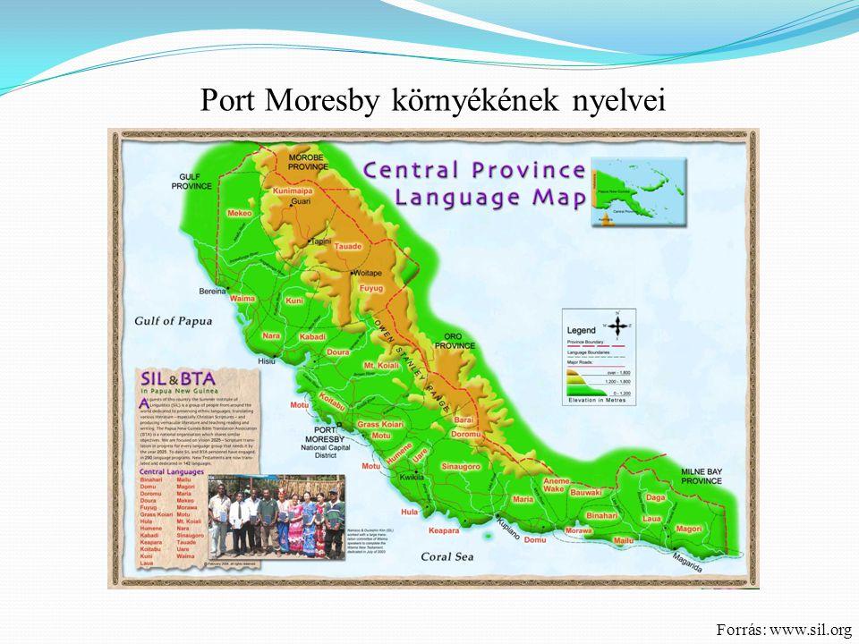 Port Moresby környékének nyelvei