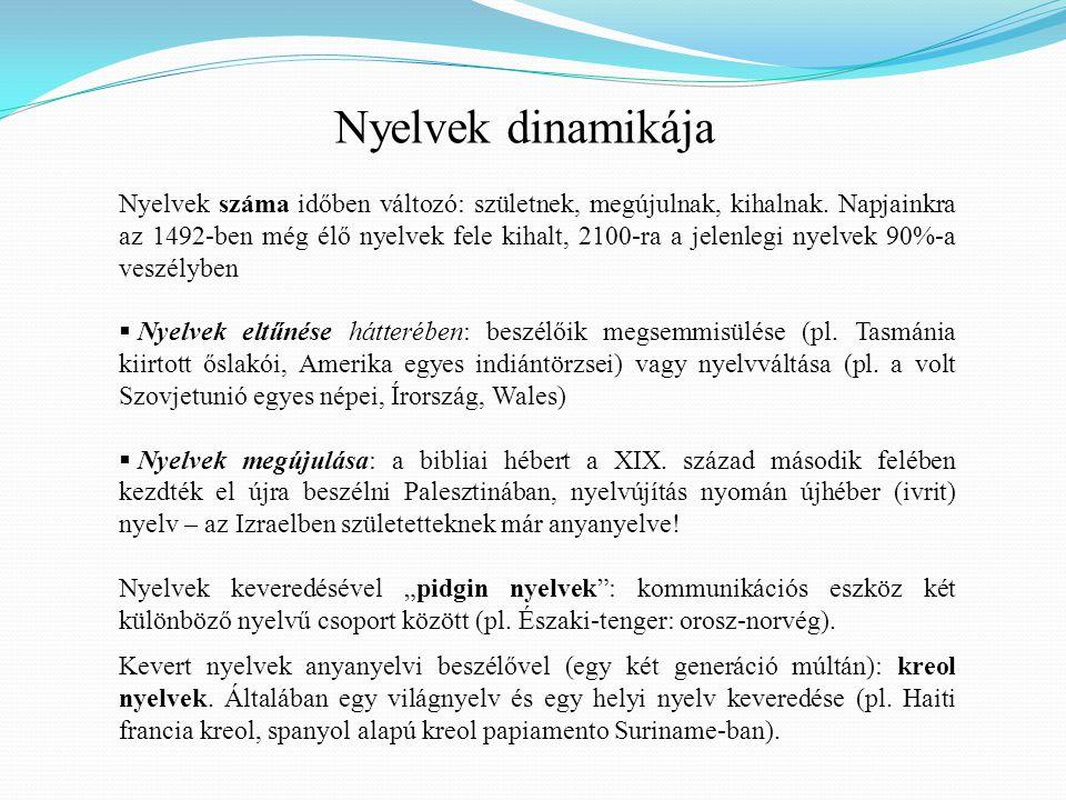 Nyelvek dinamikája