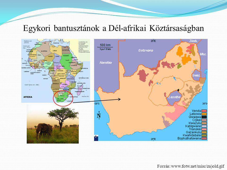 Egykori bantusztánok a Dél-afrikai Köztársaságban