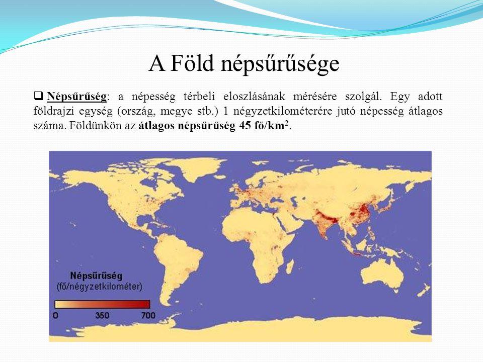 A Föld népsűrűsége