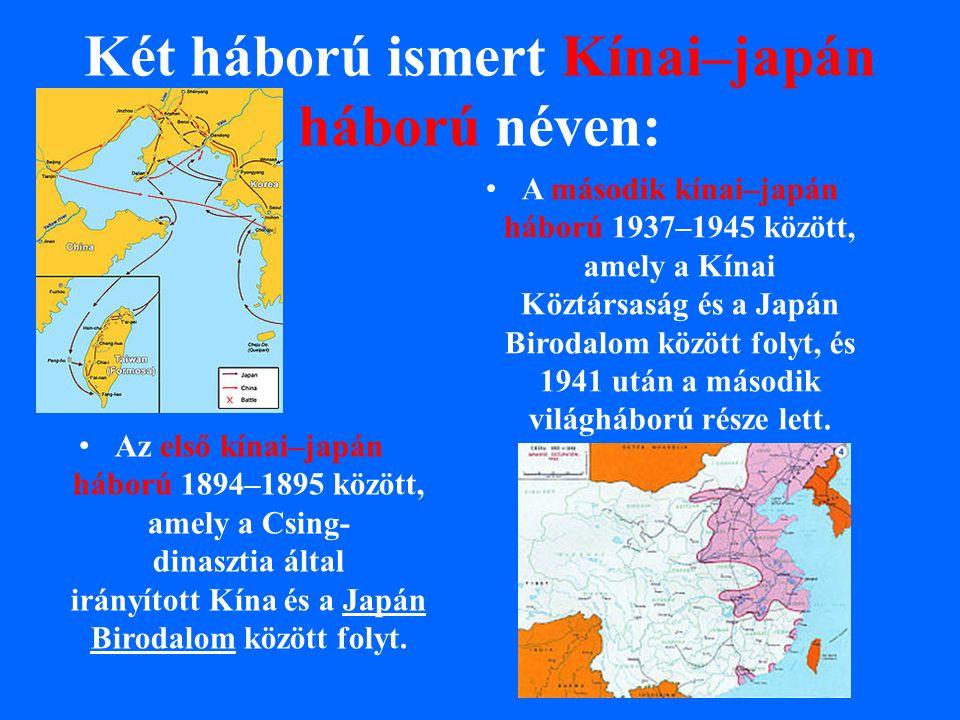 Két háború ismert Kínai–japán háború néven: