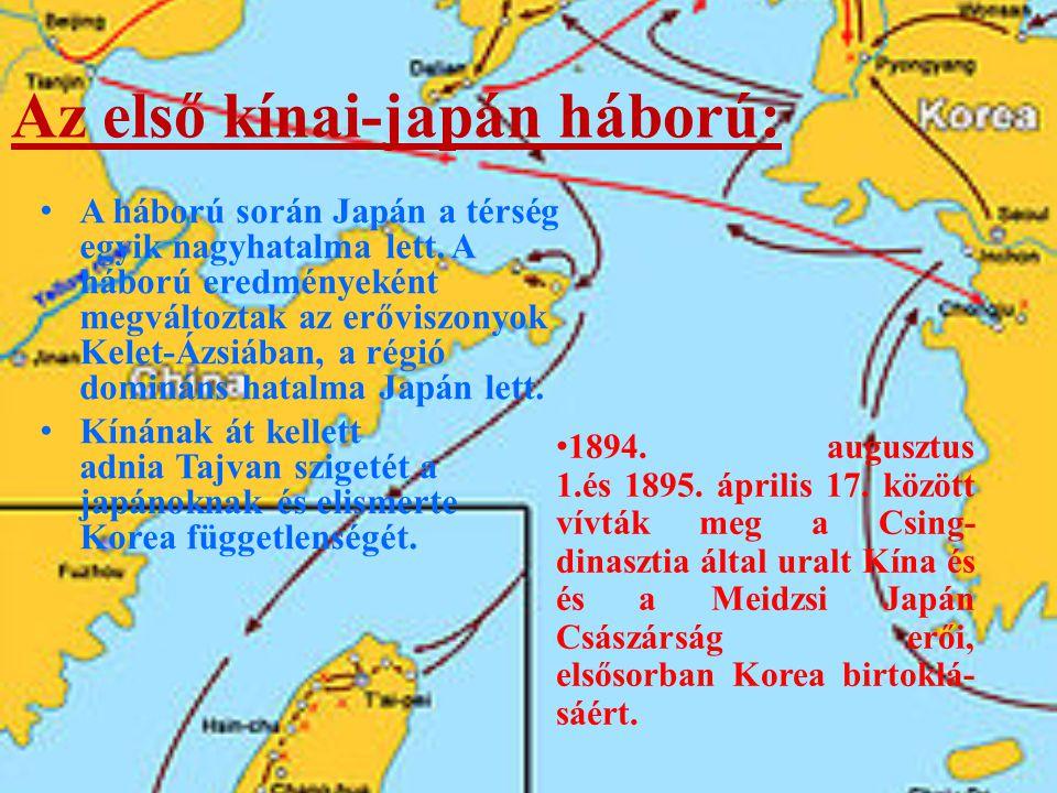 Az első kínai-japán háború: