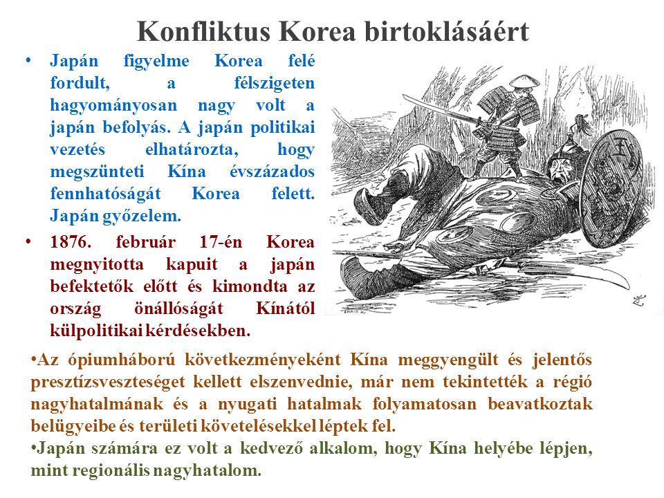 Konfliktus Korea birtoklásáért