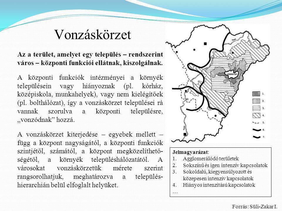 Vonzáskörzet Az a terület, amelyet egy település – rendszerint város – központi funkciói ellátnak, kiszolgálnak.
