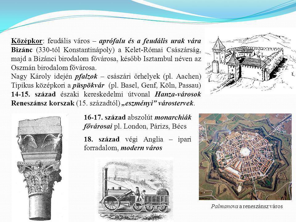16-17. század abszolút monarchiák fővárosai pl. London, Párizs, Bécs