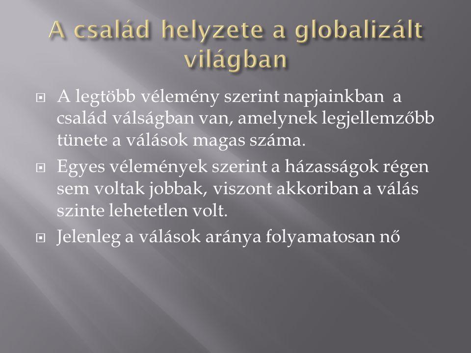 A család helyzete a globalizált világban