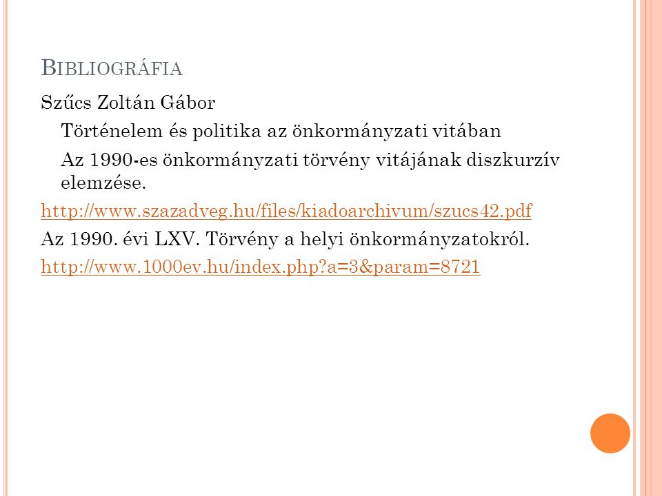 Bibliográfia Szűcs Zoltán Gábor
