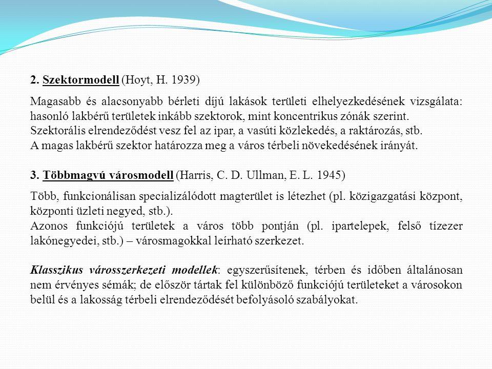 2. Szektormodell (Hoyt, H. 1939)