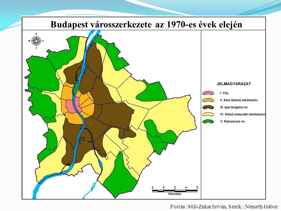 Budapest városszerkezete az 1970-es évek elején