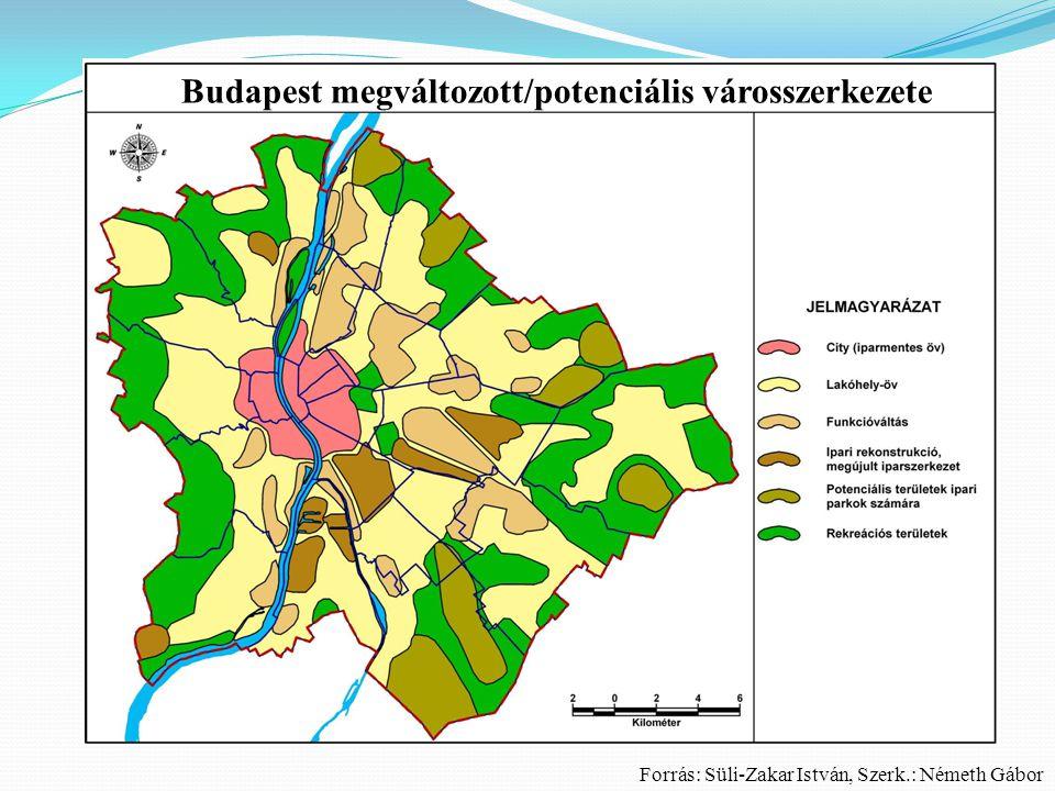 Budapest megváltozott/potenciális városszerkezete