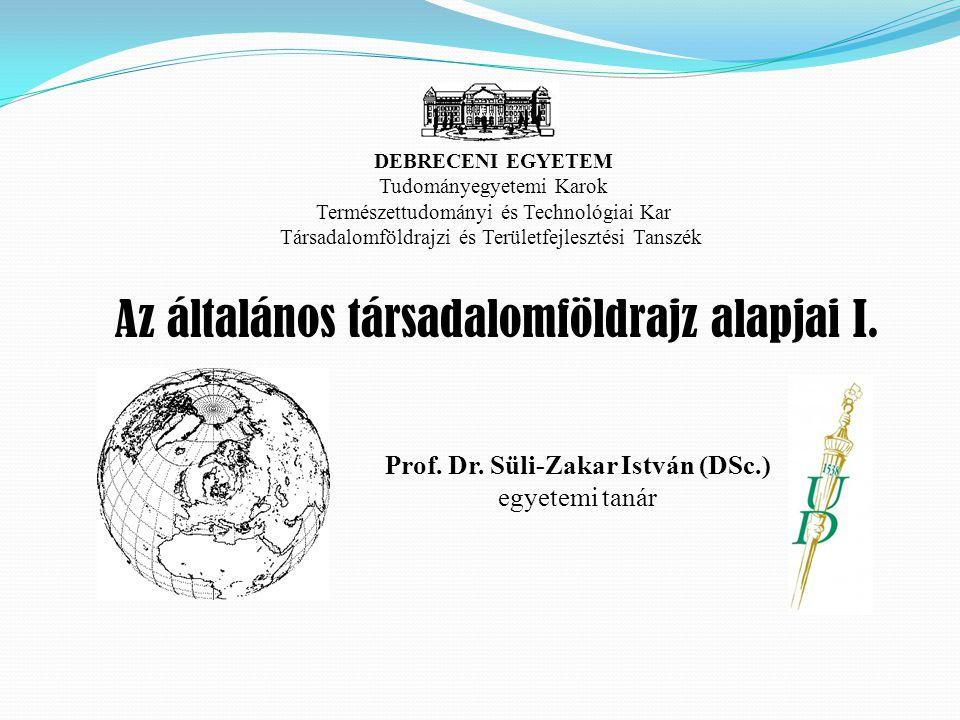 Prof. Dr. Süli-Zakar István (DSc.)
