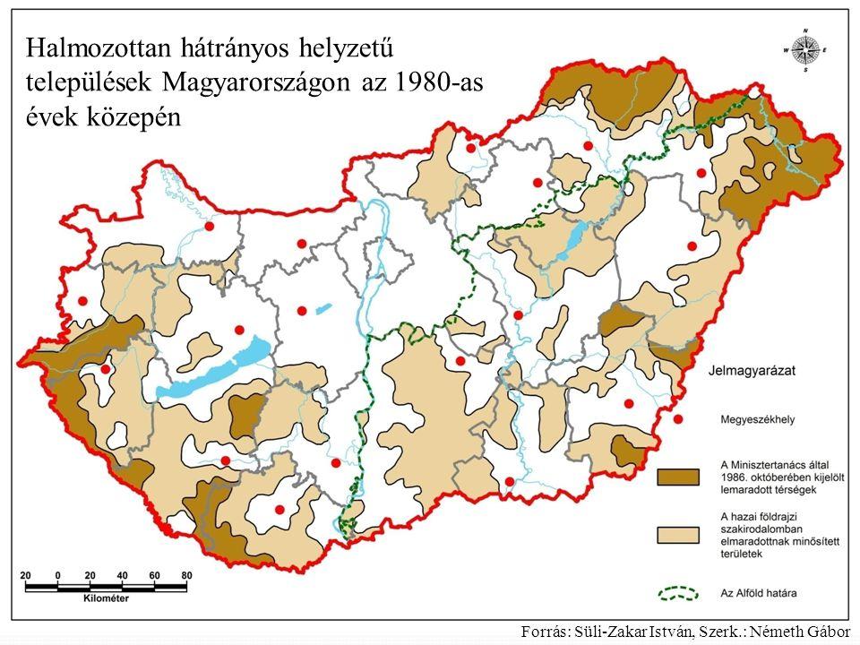 Halmozottan hátrányos helyzetű települések Magyarországon az 1980-as évek közepén
