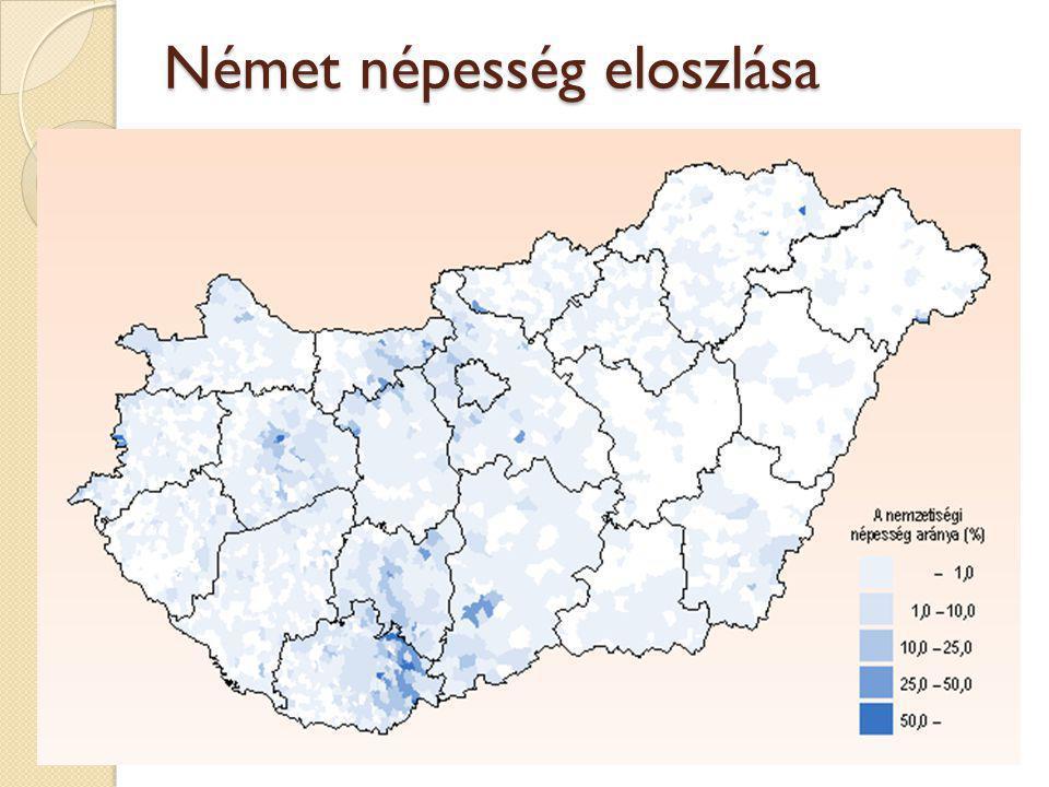 Német népesség eloszlása