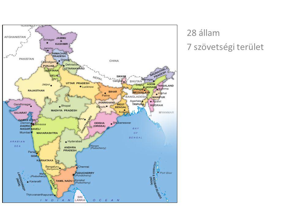 28 állam 7 szövetségi terület