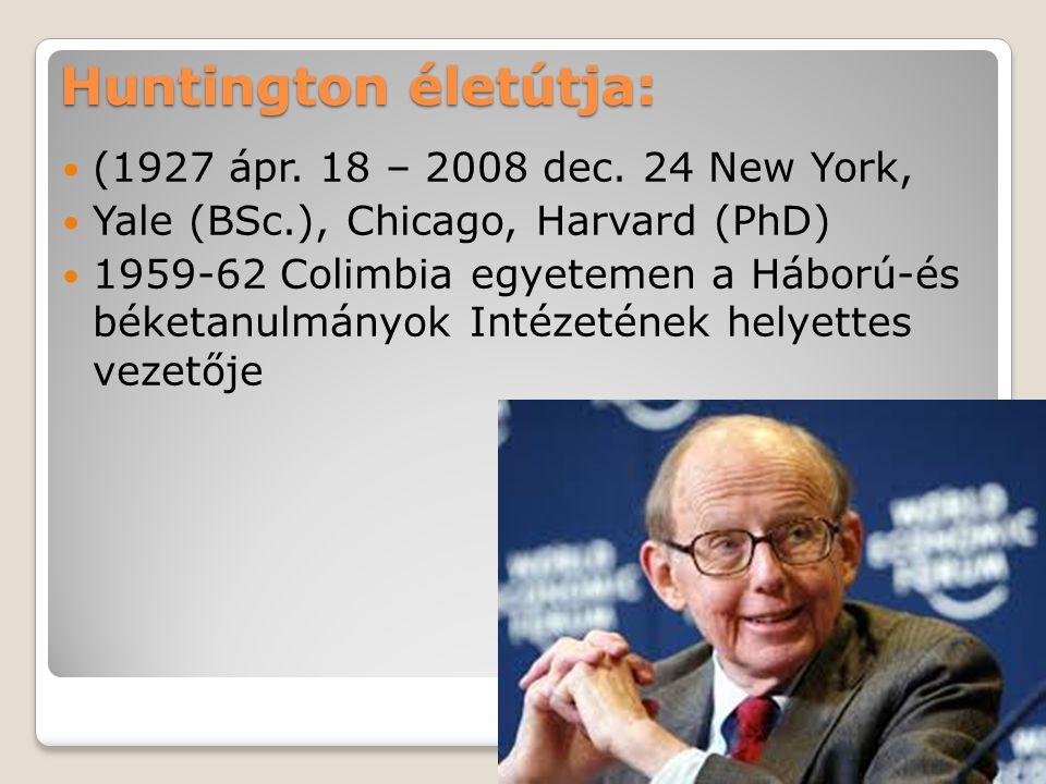 Huntington életútja: (1927 ápr. 18 – 2008 dec. 24 New York,