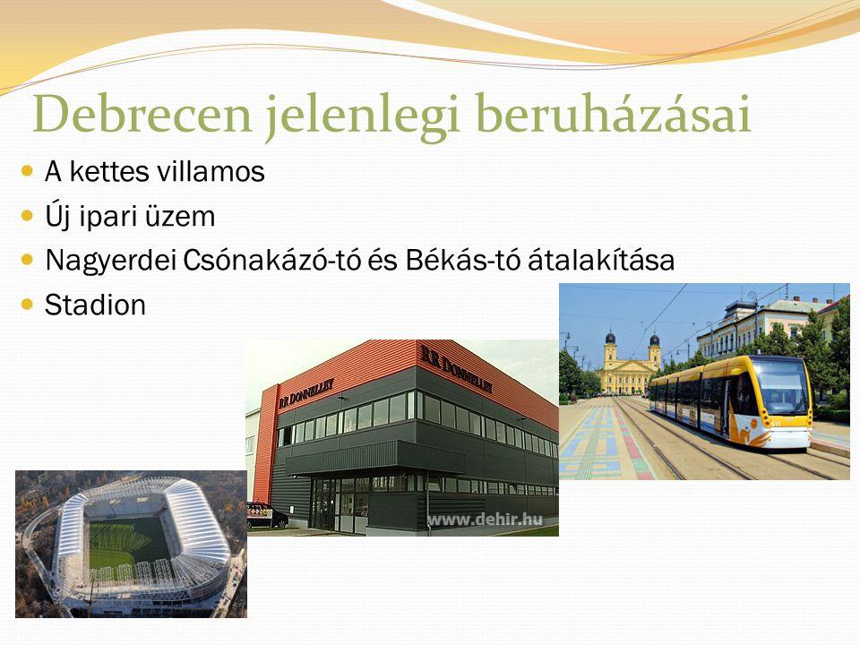 Debrecen jelenlegi beruházásai