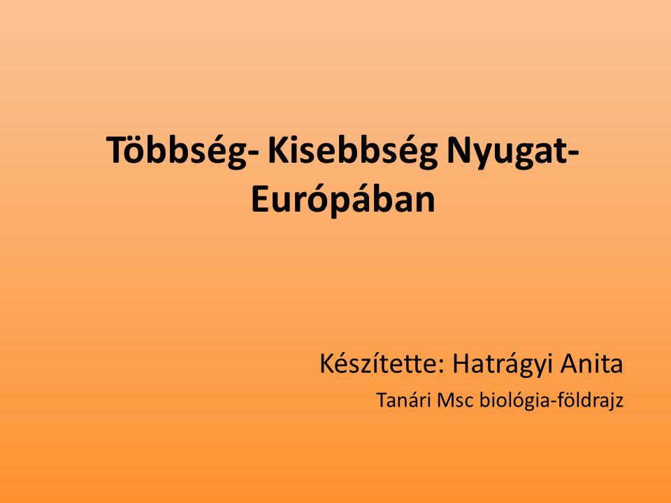 Többség- Kisebbség Nyugat- Európában