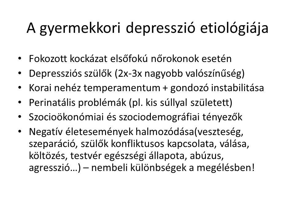 A gyermekkori depresszió etiológiája