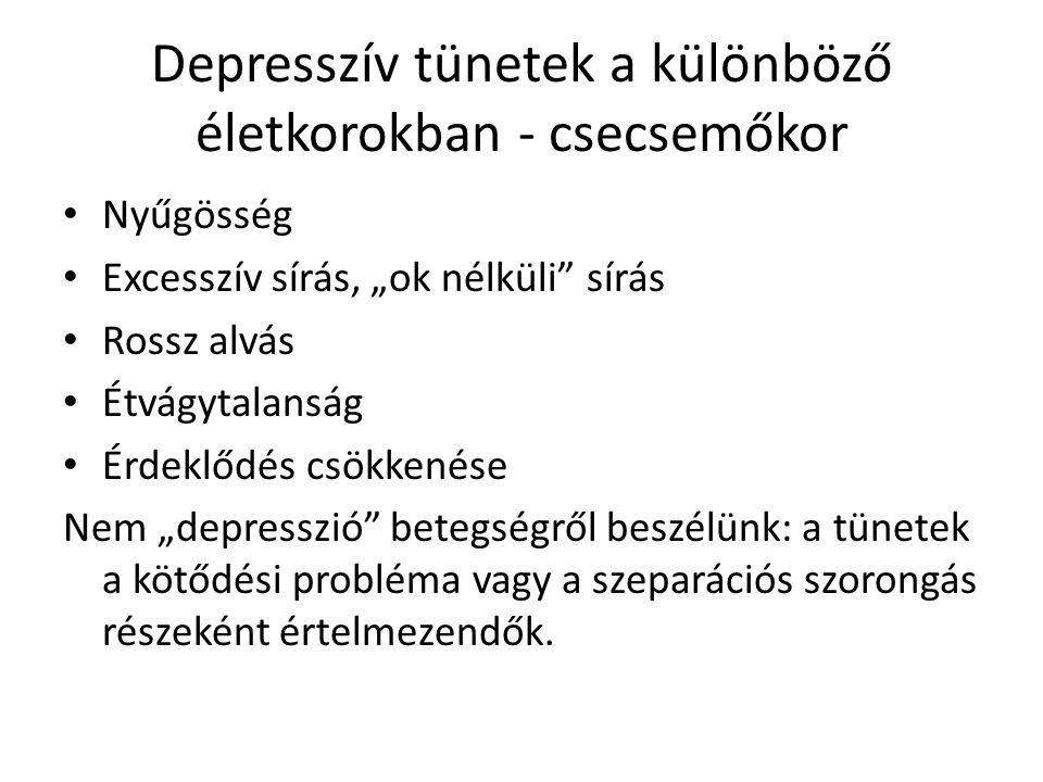Depresszív tünetek a különböző életkorokban - csecsemőkor