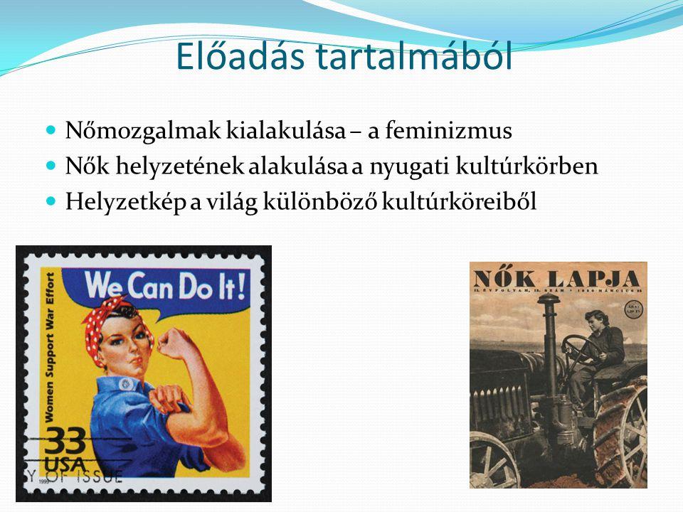 Előadás tartalmából Nőmozgalmak kialakulása – a feminizmus