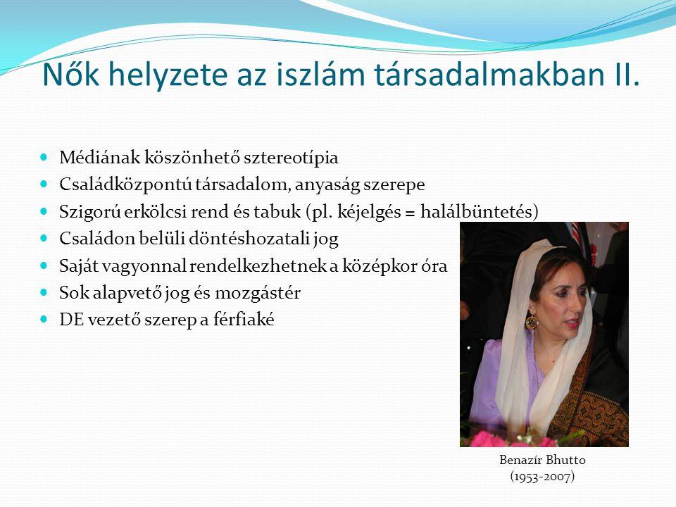 Nők helyzete az iszlám társadalmakban II.