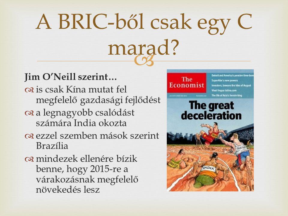 A BRIC-ből csak egy C marad