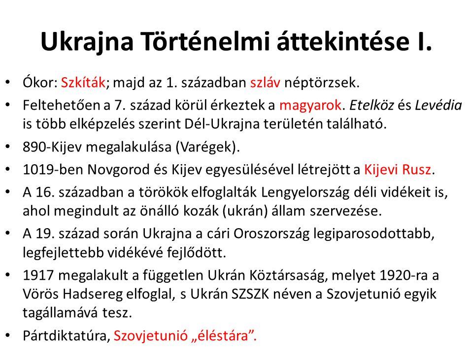Ukrajna Történelmi áttekintése I.