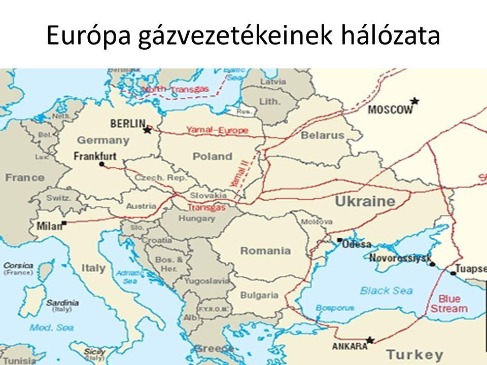 Európa gázvezetékeinek hálózata