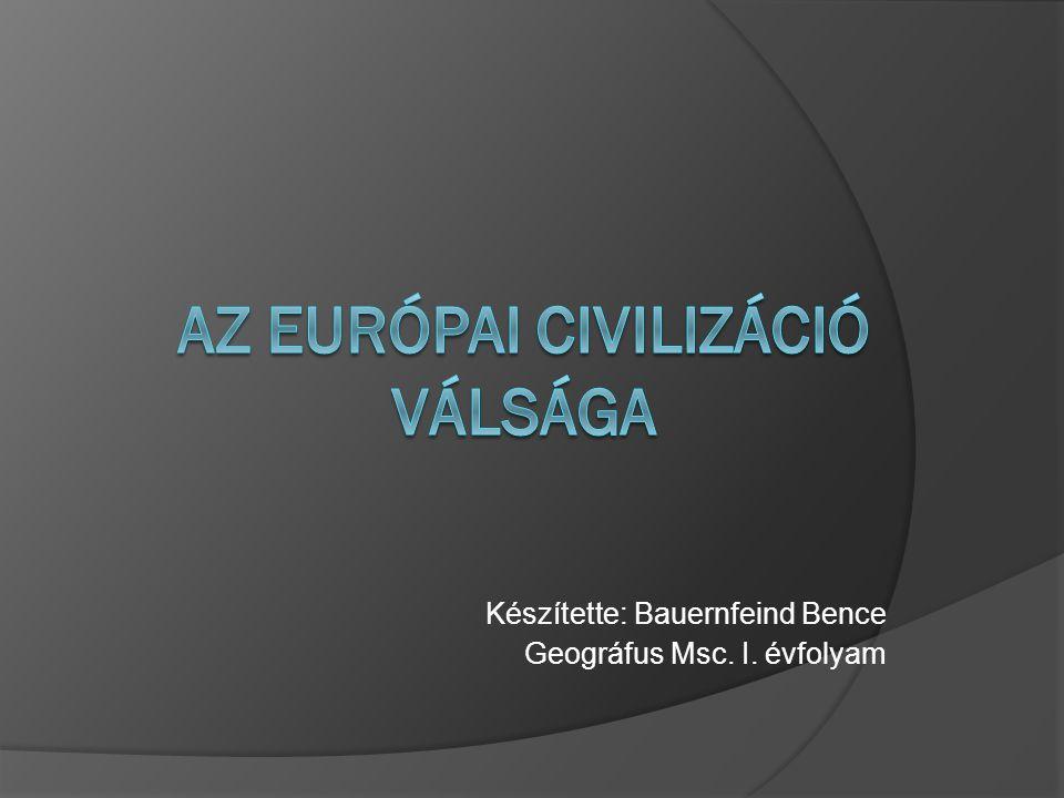 Az Európai civilizáció válsága