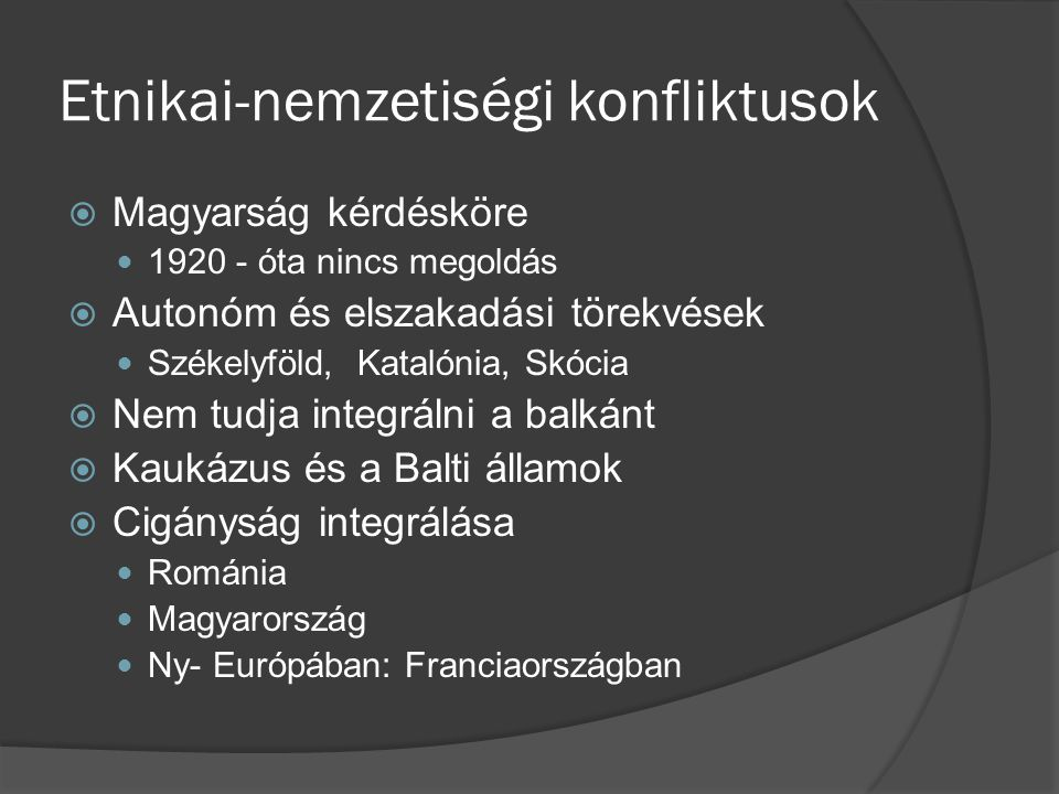 Etnikai-nemzetiségi konfliktusok