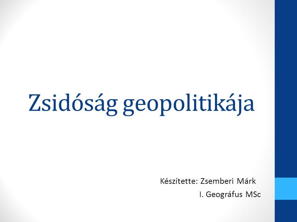Zsidóság geopolitikája