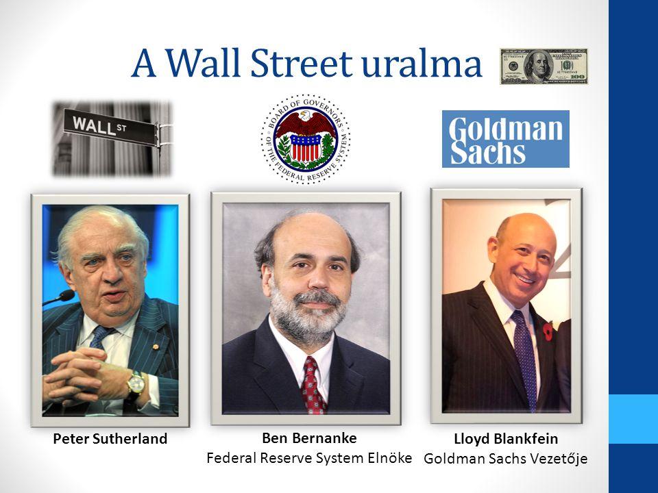 A Wall Street uralma Peter Sutherland Ben Bernanke